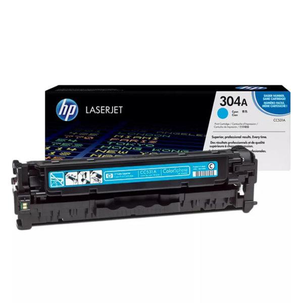 Заправка картриджа HP CC531A (304A)